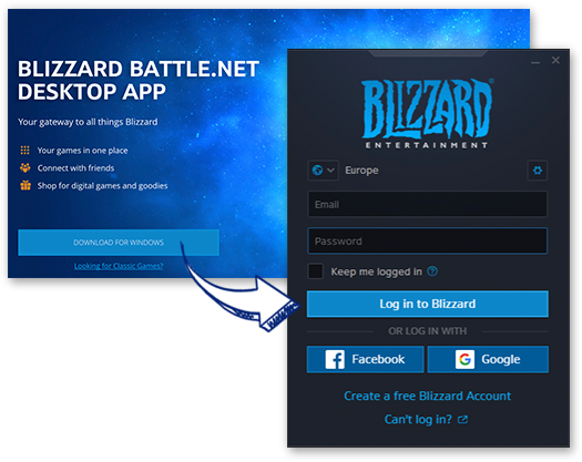 Download / Install / Launch the Battle.net Client